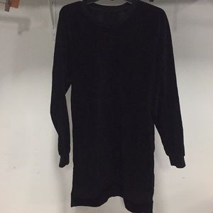 NWT HUDSON oversized sweatshirt DRESS black velvet